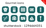 gourmet icon set. 10 filled... | Shutterstock .eps vector #1296664351