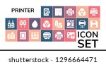 printer icon set. 19 filled... | Shutterstock .eps vector #1296664471