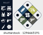 bullet icon set. 13 filled... | Shutterstock .eps vector #1296665191