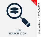 ribs search icon. editable ribs ...   Shutterstock .eps vector #1296666757