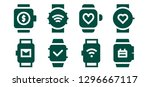wearable icon set. 8 filled...   Shutterstock .eps vector #1296667117