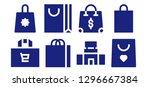 shopper icon set. 8 filled... | Shutterstock .eps vector #1296667384