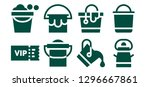 celebrity icon set. 8 filled... | Shutterstock .eps vector #1296667861