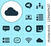 internet icons set with wi fi ... | Shutterstock .eps vector #1296669637