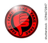 fake thumbs down icon | Shutterstock .eps vector #1296672847