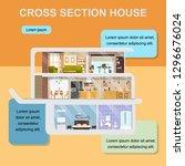 building  interior design or... | Shutterstock .eps vector #1296676024