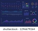 infographics dashboard. admin... | Shutterstock .eps vector #1296679264