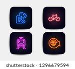 neon glow lights. set of... | Shutterstock .eps vector #1296679594