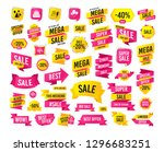 sale banner. super mega... | Shutterstock .eps vector #1296683251