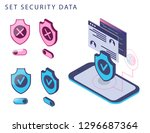 set security data isometric... | Shutterstock .eps vector #1296687364