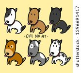 cute dogs set cartoon vector... | Shutterstock .eps vector #1296691417