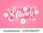 international women's day... | Shutterstock .eps vector #1296706957