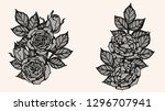 rose lace ornament vector by... | Shutterstock .eps vector #1296707941