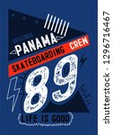 panama skateboarding crew t... | Shutterstock .eps vector #1296716467