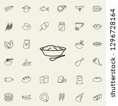 puree plates icon. food icons... | Shutterstock .eps vector #1296728164