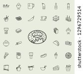 donut icon. fast food icons... | Shutterstock .eps vector #1296729514