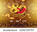 80 years anniversary logo... | Shutterstock .eps vector #1296729757