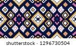 ikat geometric folklore... | Shutterstock .eps vector #1296730504