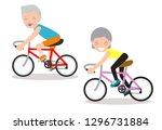 vector illustration of seniors... | Shutterstock .eps vector #1296731884