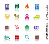 shopping icons  services... | Shutterstock .eps vector #129673661