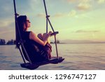 young beautiful happy woman...   Shutterstock . vector #1296747127