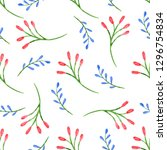 seamless pattern with... | Shutterstock . vector #1296754834