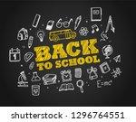 back to school concept. hand... | Shutterstock .eps vector #1296764551
