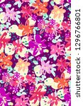 colourful flowers seamless... | Shutterstock .eps vector #1296766801