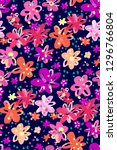colourful flowers seamless... | Shutterstock .eps vector #1296766804