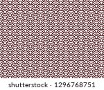 semicircle wave chinese border... | Shutterstock .eps vector #1296768751