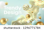 flowing soft spheres. abstract... | Shutterstock .eps vector #1296771784