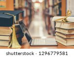 e learning class and internet... | Shutterstock . vector #1296779581