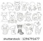 Cute Animals Line Art Set....