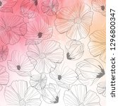 floral pattern on watercolor... | Shutterstock .eps vector #1296800347