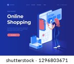 sale  consumerism and people... | Shutterstock .eps vector #1296803671