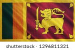 sri lanka flag is waving 3d... | Shutterstock . vector #1296811321