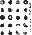 solid black vector icon set  ... | Shutterstock .eps vector #1296824401