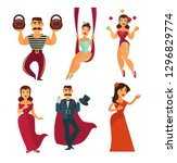 stage performers circus show... | Shutterstock .eps vector #1296829774