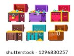 chests with gold coins and...   Shutterstock .eps vector #1296830257