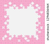 piece puzzle background  banner ... | Shutterstock .eps vector #1296836464
