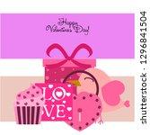 a set of celebratory elements...   Shutterstock .eps vector #1296841504