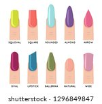 fashion trend female nail... | Shutterstock .eps vector #1296849847