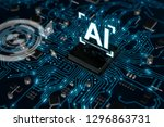 3d render ai artificial... | Shutterstock . vector #1296863731