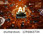 3d render ai artificial... | Shutterstock . vector #1296863734