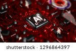 3d render ai artificial... | Shutterstock . vector #1296864397