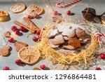 homemade christmas ginger... | Shutterstock . vector #1296864481