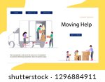 moving home and office concept... | Shutterstock .eps vector #1296884911