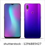 realistic smartphone mockups... | Shutterstock .eps vector #1296885427