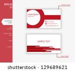 corporate identity design for... | Shutterstock .eps vector #129689621