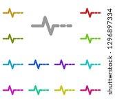 pulse icon in multi color....